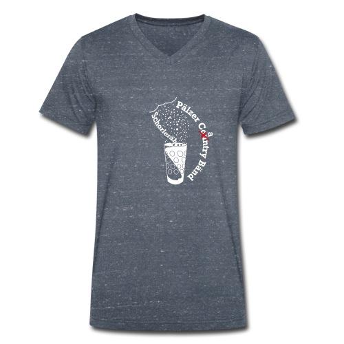 Schorleräh weiss - Männer Bio-T-Shirt mit V-Ausschnitt von Stanley & Stella