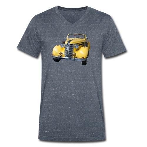Gele klassieke auto1920 - Mannen bio T-shirt met V-hals van Stanley & Stella