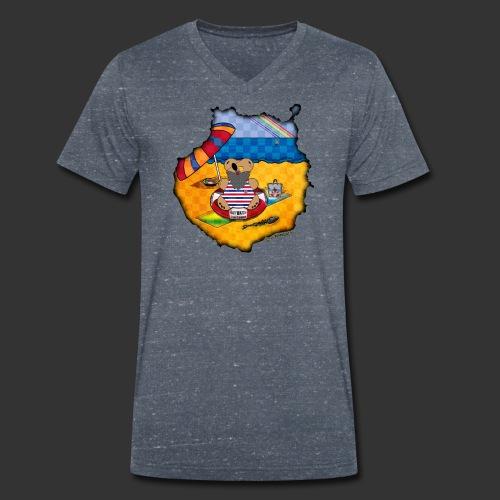 GC Urlaub mit der Bärenlust - Männer Bio-T-Shirt mit V-Ausschnitt von Stanley & Stella