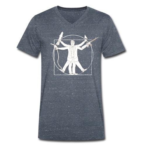 Vitruvian Trump: Anti-Trump design - Men's Organic V-Neck T-Shirt by Stanley & Stella