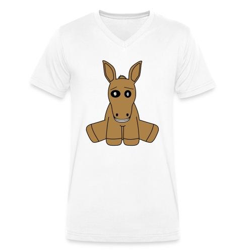 horse - T-shirt ecologica da uomo con scollo a V di Stanley & Stella