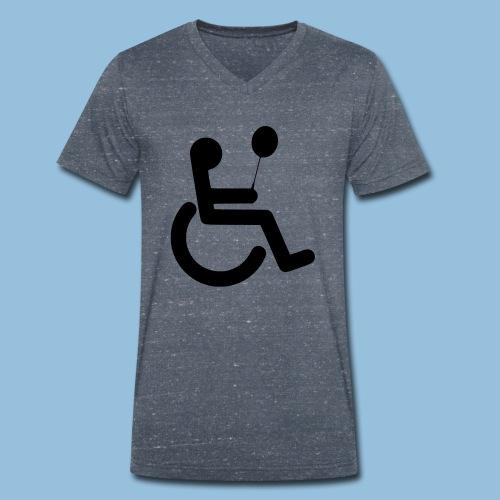 Baloonwheelchair2 - Mannen bio T-shirt met V-hals van Stanley & Stella