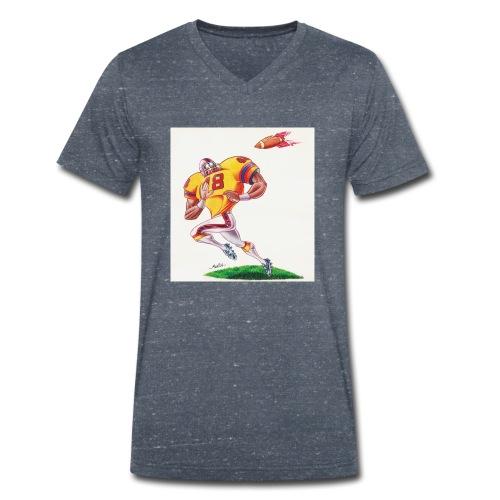 Football Americano - T-shirt ecologica da uomo con scollo a V di Stanley & Stella