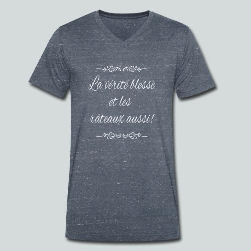 La vérité blesse et les râteaux aussi! - T-shirt bio col V Stanley & Stella Homme