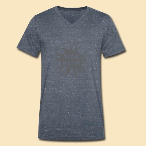 Tierheim Logo gray 75 - Männer Bio-T-Shirt mit V-Ausschnitt von Stanley & Stella
