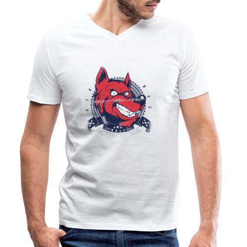 Wolf grin - Männer Bio-T-Shirt mit V-Ausschnitt von Stanley & Stella