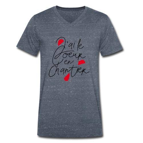coeur en chantier - T-shirt bio col V Stanley & Stella Homme