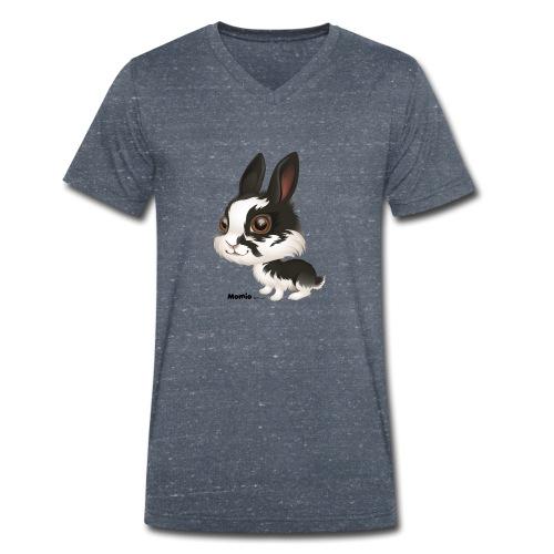 Kanin - Økologisk T-skjorte med V-hals for menn fra Stanley & Stella