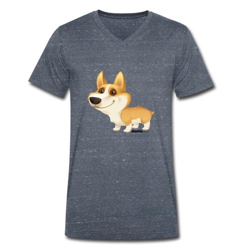 Corgi - Mannen bio T-shirt met V-hals van Stanley & Stella