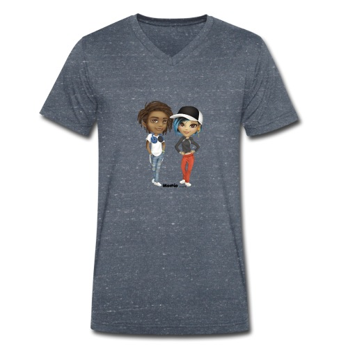 Maya & Noa - Mannen bio T-shirt met V-hals van Stanley & Stella