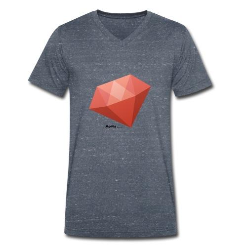 Diament - Ekologiczna koszulka męska z dekoltem w serek Stanley & Stella