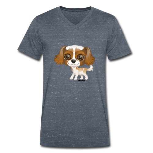 Hund - Økologisk T-skjorte med V-hals for menn fra Stanley & Stella