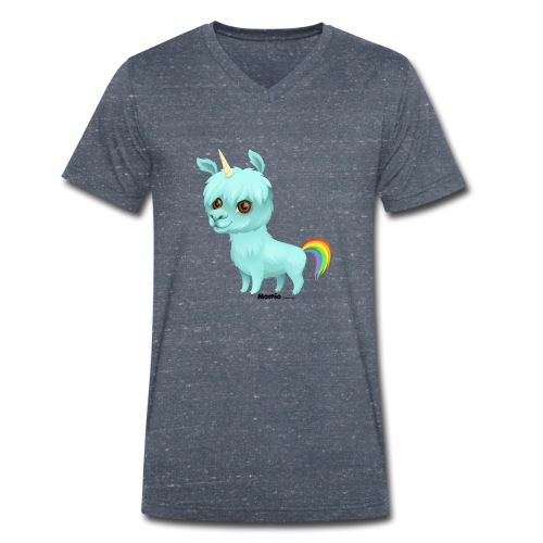 Llamacorn - Økologisk T-skjorte med V-hals for menn fra Stanley & Stella