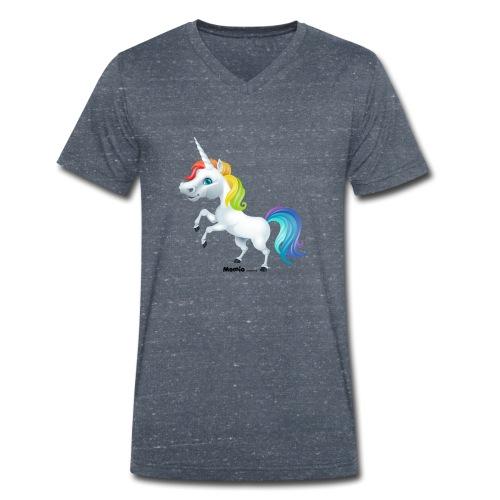 Regenbogen-Einhorn - Männer Bio-T-Shirt mit V-Ausschnitt von Stanley & Stella