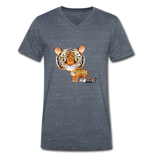 Tiger - Økologisk T-skjorte med V-hals for menn fra Stanley & Stella