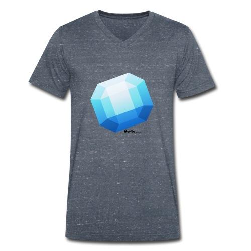 Safir - Økologisk T-skjorte med V-hals for menn fra Stanley & Stella
