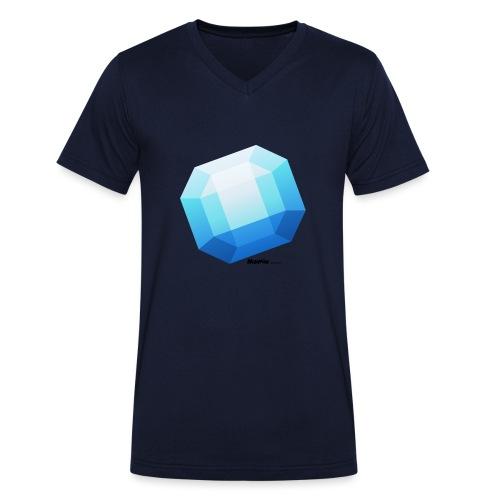 Saffier - Mannen bio T-shirt met V-hals van Stanley & Stella