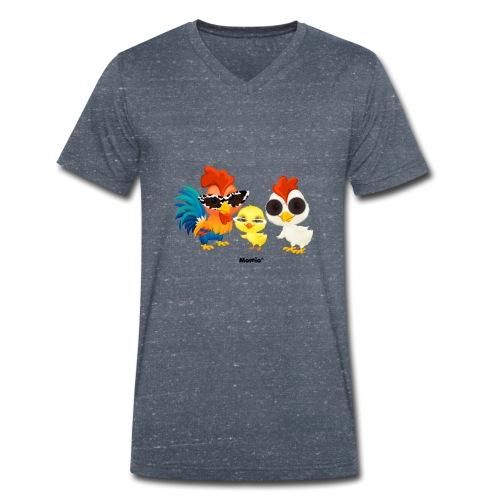 Kurczak - autorstwa Momio Designer Emeraldo. - Ekologiczna koszulka męska z dekoltem w serek Stanley & Stella