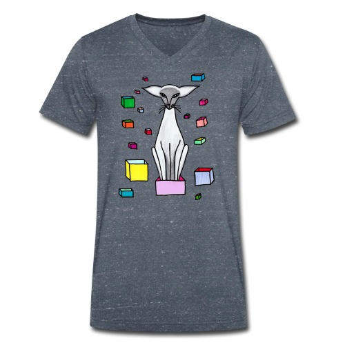 Siames i låda - Ekologisk T-shirt med V-ringning herr från Stanley & Stella