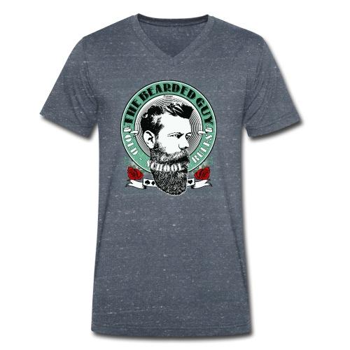 bearded guy color 05 - Camiseta ecológica hombre con cuello de pico de Stanley & Stella
