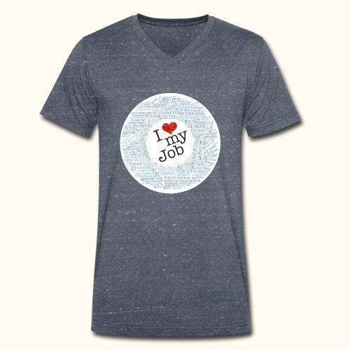 I ❤ my Job mit Traumberufen - Männer Bio-T-Shirt mit V-Ausschnitt von Stanley & Stella