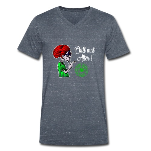 Chill old age, smoke weed everyday, vintage - Men's Organic V-Neck T-Shirt by Stanley & Stella