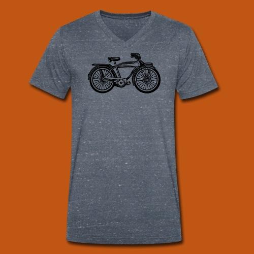 Beach Cruiser Fahrrad 01_schwarz - Männer Bio-T-Shirt mit V-Ausschnitt von Stanley & Stella