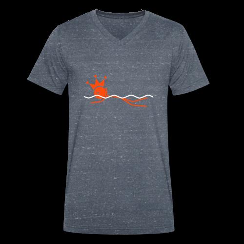 Zwemkoning - Mannen bio T-shirt met V-hals van Stanley & Stella