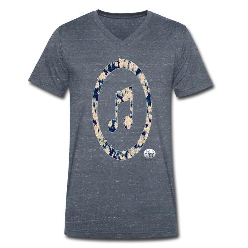 MusicFlower - Camiseta ecológica hombre con cuello de pico de Stanley & Stella