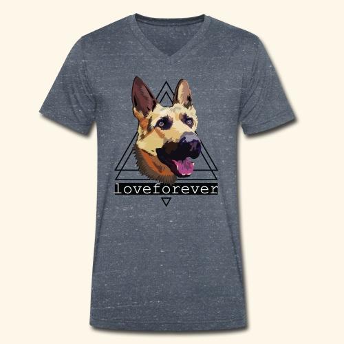SHEPHERD LOVE FOREVER - Camiseta ecológica hombre con cuello de pico de Stanley & Stella