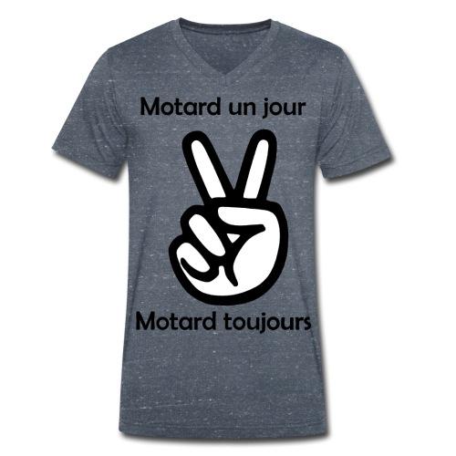 Motard un jour Motard toujours - T-shirt bio col V Stanley & Stella Homme