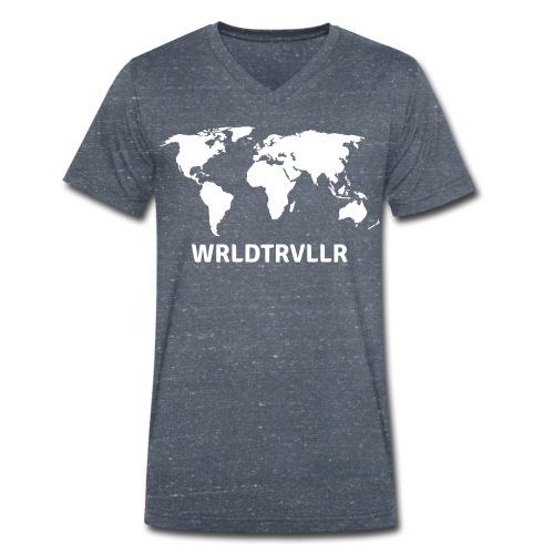 Worldtraveller - Männer Bio-T-Shirt mit V-Ausschnitt von Stanley & Stella
