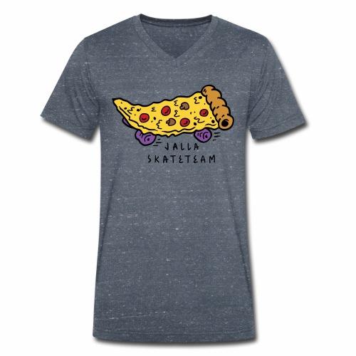 JallaSkateTeam pizza logo - Økologisk T-skjorte med V-hals for menn fra Stanley & Stella