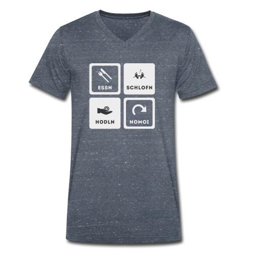 Essn, Schlofn, Hodln, Nomoi - Österreich Edition - Männer Bio-T-Shirt mit V-Ausschnitt von Stanley & Stella