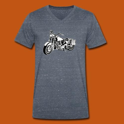 Chopper Motorrad 10_schwarz weiß - Männer Bio-T-Shirt mit V-Ausschnitt von Stanley & Stella