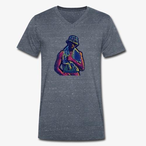 NDW discoinferno - T-shirt ecologica da uomo con scollo a V di Stanley & Stella