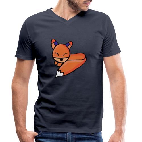 Edo le renard - T-shirt bio col V Stanley & Stella Homme