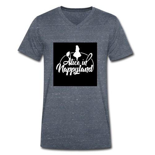 Alice in Nappyland TypographyWhite 1080 - Men's Organic V-Neck T-Shirt by Stanley & Stella