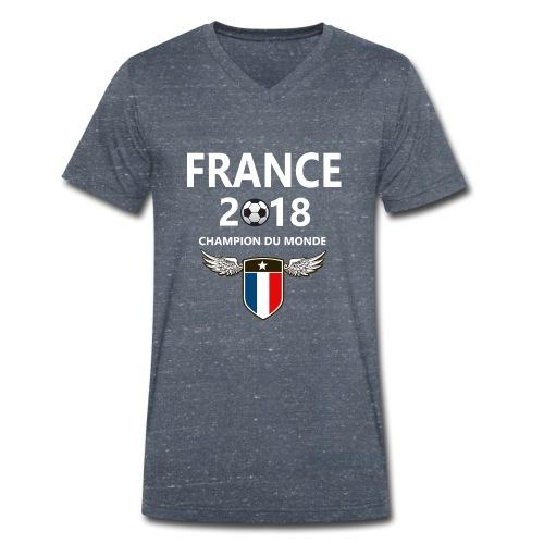 Champion du monde france 2018 T-shirt - Mannen bio T-shirt met V-hals van Stanley & Stella