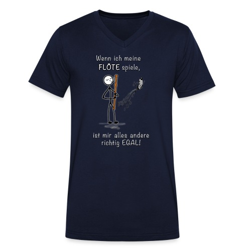 Recorder Love f. dark colours - Men's Organic V-Neck T-Shirt by Stanley & Stella