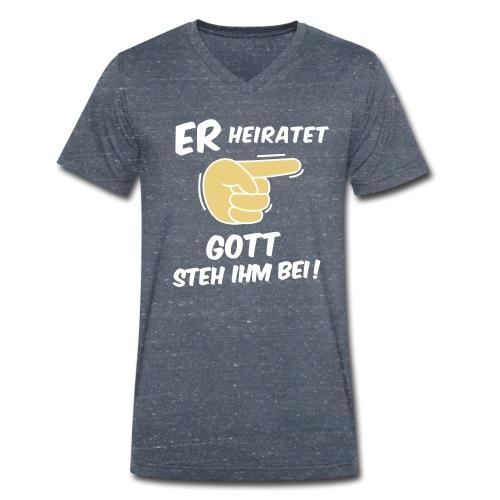 Junggesellenabschied - Team Bräutigam - JGA Crew - Männer Bio-T-Shirt mit V-Ausschnitt von Stanley & Stella
