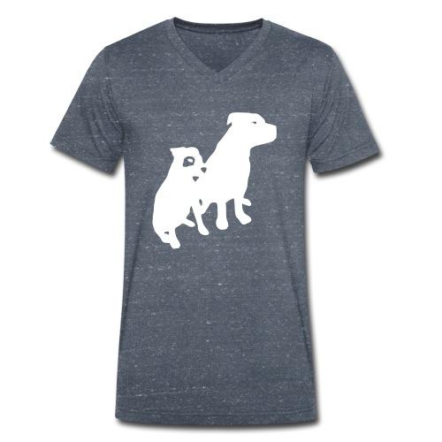 Doggy / zwei brave Hunde zum verschenken - Männer Bio-T-Shirt mit V-Ausschnitt von Stanley & Stella