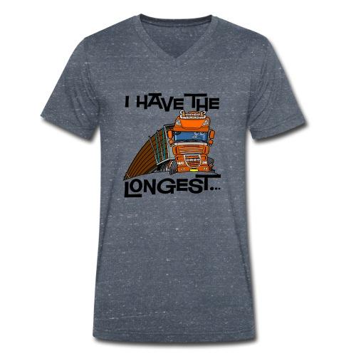0793 D Truck I have the longest loads (FRONT+BACK) - Mannen bio T-shirt met V-hals van Stanley & Stella