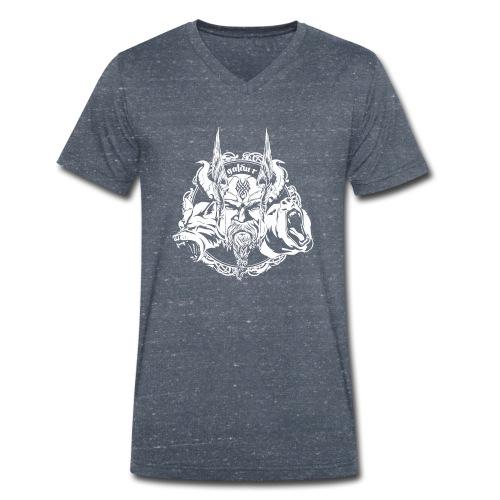 Wikinger, Viking Logo White, galdur - Männer Bio-T-Shirt mit V-Ausschnitt von Stanley & Stella