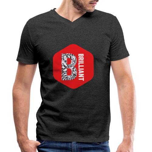 B brilliant red - Mannen bio T-shirt met V-hals van Stanley & Stella