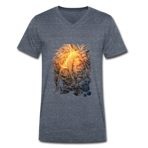 Éclatement - T-shirt bio col V Stanley & Stella Homme