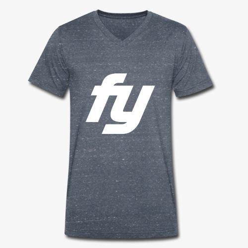 Logo Trendy Weiss - Männer Bio-T-Shirt mit V-Ausschnitt von Stanley & Stella