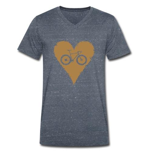 I love bicycles - Männer Bio-T-Shirt mit V-Ausschnitt von Stanley & Stella