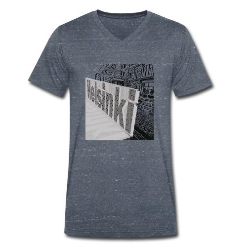 helsinki tram typo - Men's Organic V-Neck T-Shirt by Stanley & Stella