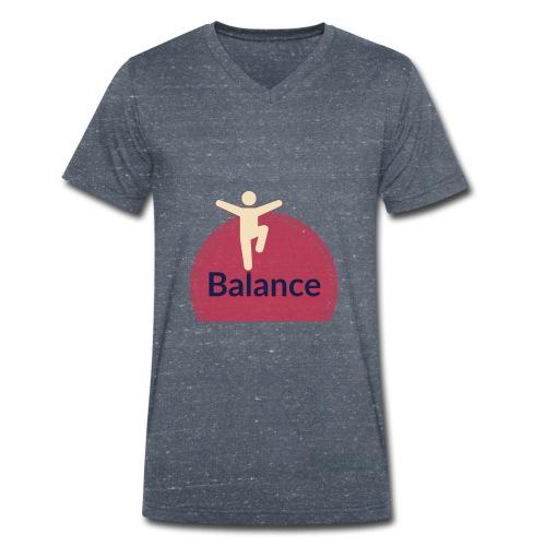 Balance red - Men's Organic V-Neck T-Shirt by Stanley & Stella